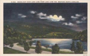 Moonlight Over Lake Lure From Lake Lure Inn Western North Carolina