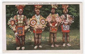 Apache Indian Native American War Dancers Oklahoma postcard