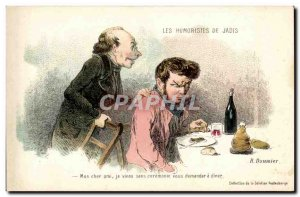 Old Postcard formerly Daumier's humourists My dear friend