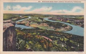 Tennessee Moccasin Bend From Lookout Mountain 1937