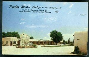 Pueblo Motor Lodge Socorro New Mexico nm chrome postcard