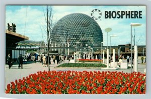 Montreal QC-Quebec Canada, Biosphere, Chrome Postcard