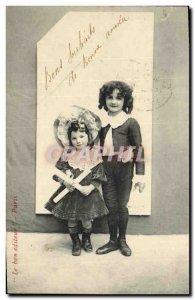 Old Postcard Fantasy Children