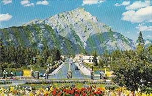Canada Alberta Banff Main Street & Cascade Mountain