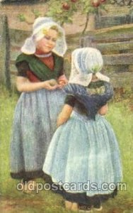 Dutch Children 1909 light corner wear, postal used 1909