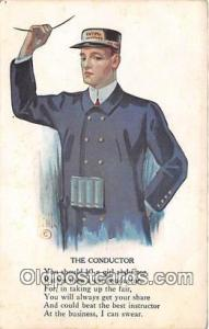 Conductor  Postcards Post Cards Old Vintage Antique  Conductor