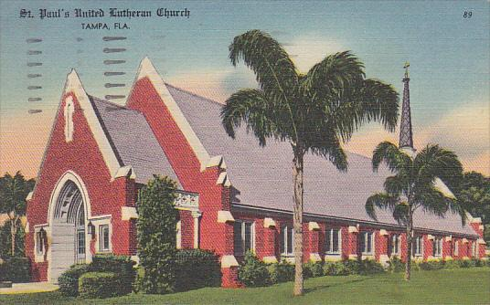 St Paul's United Lutheran Church Tampa Florida 1959
