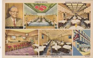 Illinois Chicago Ireland's Oyster House Lobster Grotto Marine Dining Room Coc...