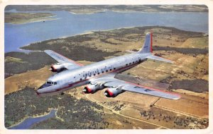 American Airlines Flagship Plane 1950s postcard