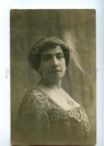 139136 Medea FIGNER Great Rus Italian OPERA Singer Old PHOTO