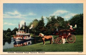 Michigan Dearborn Greenfield Village Suwanee River Curteich