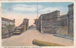 First Approach To Old Fort Marion, ST. AUGUSTINE, Florida, PU-1920