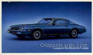 Camaro berlinetta coupe Automotive, Car Vehicle, Old, Vintage, Antique Postca...