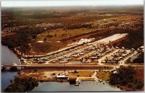 Sun N Fun Trailer Park, Fort Myers Florida Route 4 Aerial View Postcard H04