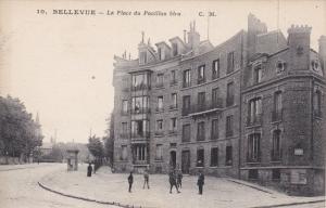 BELLEVUE, France, 1900-1910s; La Place Du Pavillon Bleu