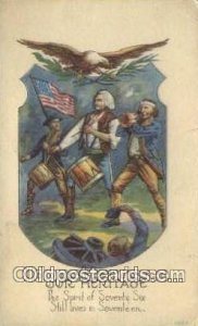 George Washington, 1st President USA Political writing on back
