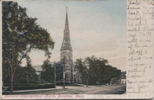 Harvard Congregational Church, Brookline, Massachusetts, Early Postcard, Uned