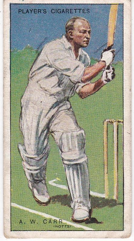 Cigarette Cards Player's Cricketers 1930 No 6 - A W Carr