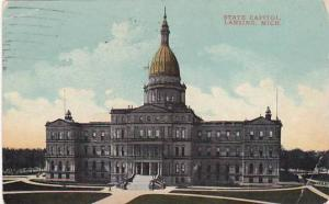 Michigan Lansing State Capitol 1918