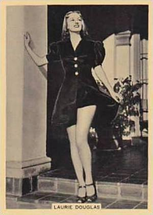 B A T Vintage Large Cigarette Card Grace & Beauty No 24 Laurie Douglas  1938