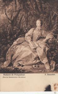 BF18152 madame de pompadour f coucher painting art front/back image