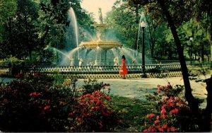 Georgia Savannah Forsyth Park With Fountain