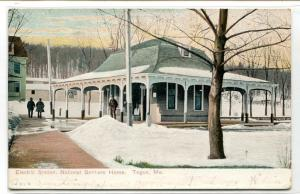 Electric Streetcar Station National Soldiers Home Togus Maine 1910 postcard