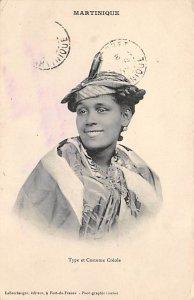 Martinique Post card Old Vintage Antique Postcard Type et Costume Creole Post...