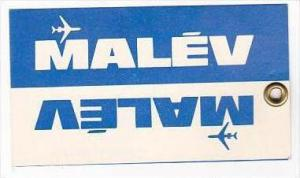 MALEV HUNGARIAN AIRLINES VINTAGE LUGGAGE TAG