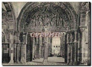 Postcard Old Vezelay Basilica De La Madeleine The narthex and nave of the portal