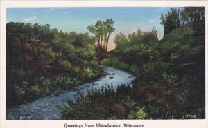 Wisconsin Greetings From Rhinelander