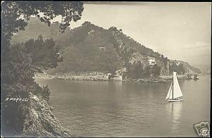 italy, PARAGGI, Panorama, Sailing Boat (1910s) RPPC