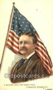 Theodore Roosevelt President of United States, Political Unused light yellowi...