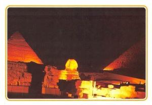 Egypt Giza Sound and Light at the Pyramids of Giza Night view