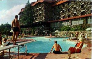 Asheville NC - THE GROVE PARK INN swimming pool,  1960s