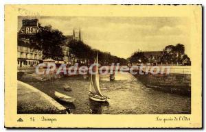 Old Postcard Quimper the banks of the Odet