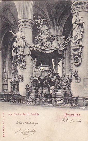 Belgium Brussells La Chaire de Sainte Gudule 1904