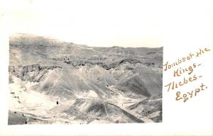 Tombs of The Kings Thebes Egypt Real Photo RPPC Postcard