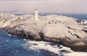 Air View, Lighthouse, Peggy's Cove, Nova Scotia, Canada, 1950-60s