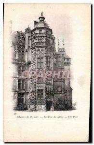 Old Postcard Chateau Meillant tower Lion