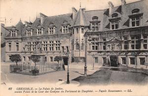 France Grenoble Le Palais de Justice, Cour des Comptes du parlement Facade