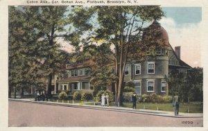 BROOKLYN, NYC, 1910s; Caton Ave., Cor. Ocean Ave., Flatbush