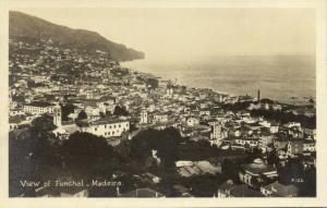 portugal, MADEIRA FUNCHAL, Panorama (1930s) RPPC