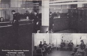 Telephone Center , Fargo Barracks , BOSTON , Massachusetts , 1946