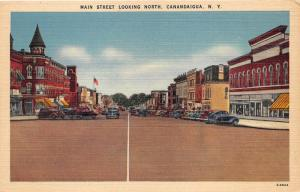 Canandaigua New York~Main Street Looking North~Storefronts~1940s Cars