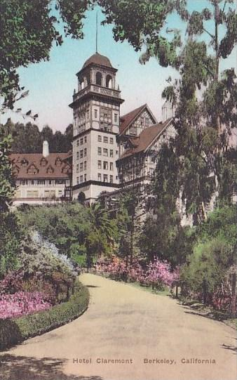 California Berkeley Hotel Claremont Handcolored Albertype