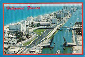 A1A Looking South Hollywood Beach Florida
