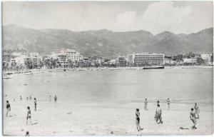 RPPC Beach View of Acapulco Guerrero Mexico