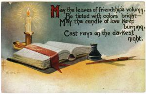 Graveland Station to Mount Morris, New York 1911 Friendship Poem, Greeting PC