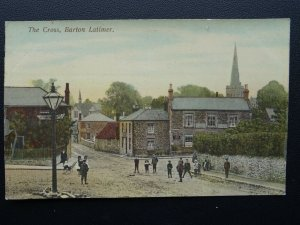 BURTON LATIMER The Cross shows THE THATCHERS ARMS - Old Postcard by W.A. Charles